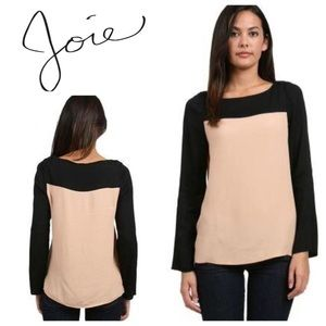 Joie Colorblock Long Sleeve Top Size XS